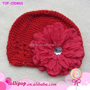 Lovely OEM knitted beanies multicolor red color baby winter hat crochet  wholesale cute baby boy wool 622b221996d