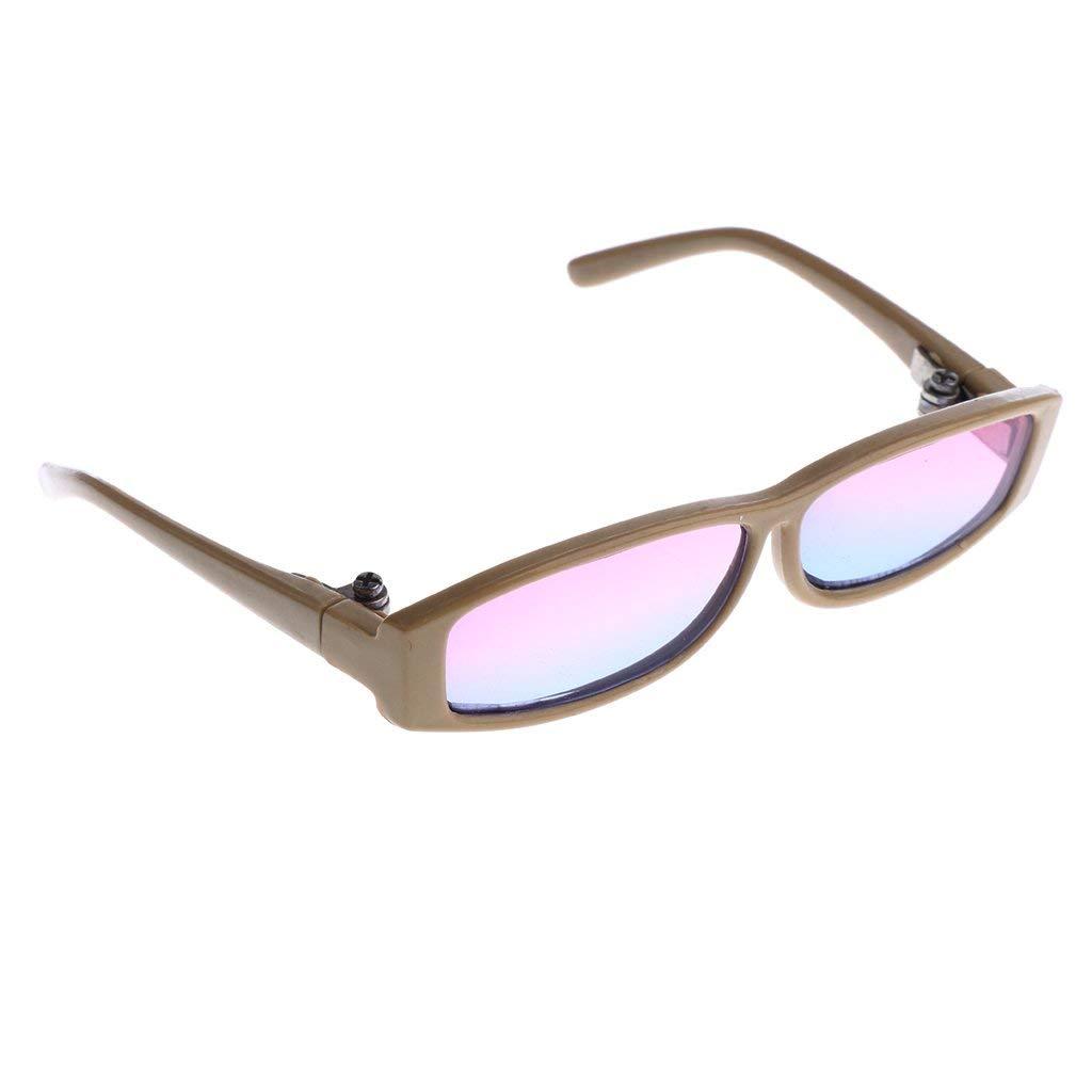 612d26482e Get Quotations · MagiDeal 1 3 BJD Dolls Gradient Color Glasses Beige Frame  Eyewear for MSD DOD SD