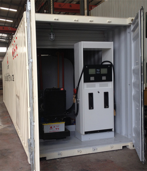20 and 40 ft mobile petrol gas station/portable gas station/container fuel tank with pump and dispensers