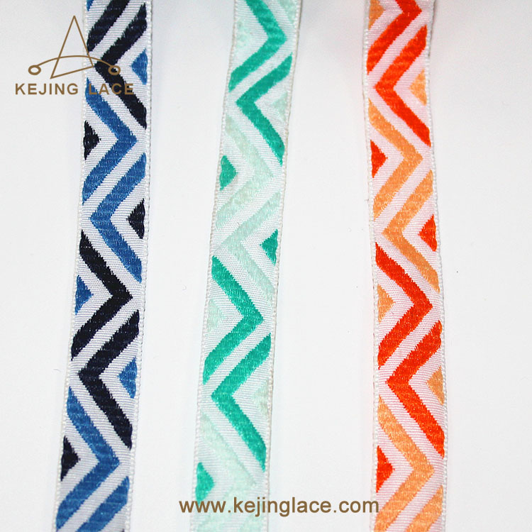 nylon geometric jacquard  ribbonTrim