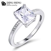 New Fashion Engagement 18K Gold Platinum Women 925 Sterling Silver Wedding Latest Design Diamond Ring For Girls