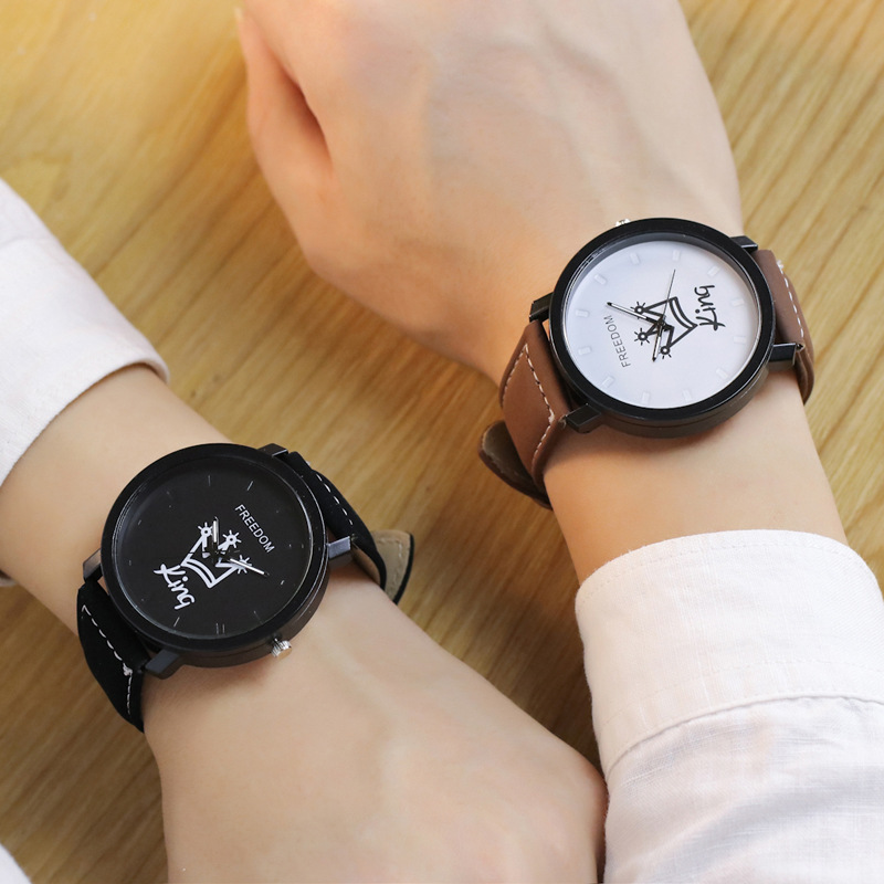 King and queen fashion couple watch,lovers movt quartz watch mens and women(pw224)
