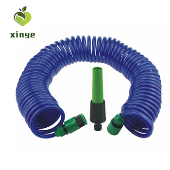 Manufacturer Competitive Price Prime Quality Coil Water Hose Set with Spray Gun