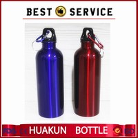 wholesale 600ml stainless steel outdoor sports water bottle with Climbing buckle custom logo