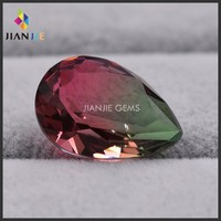 Best price of uncut tourmaline Pear shape special glass gemstone