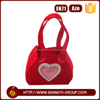2016 Popular Valentine's Day beautiful customized polyester felt jewelry gift bag