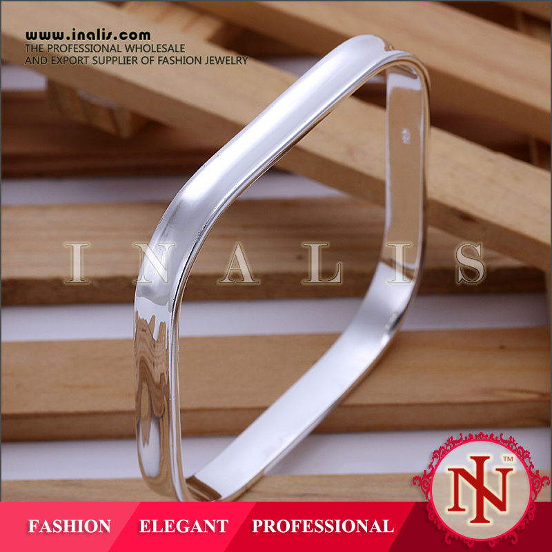 Unique design square silver plated fashion accessories thailand B053