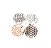 316L Stainless Steel Chakra Jewelry 20mm Flower of Life Charm Tree of Life Charm