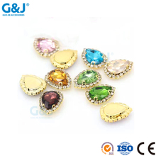 Guojie wholesale custom decorate cheap chunky bead ABS plastic beads flatback sapphire crystal rhinestone price for jieans
