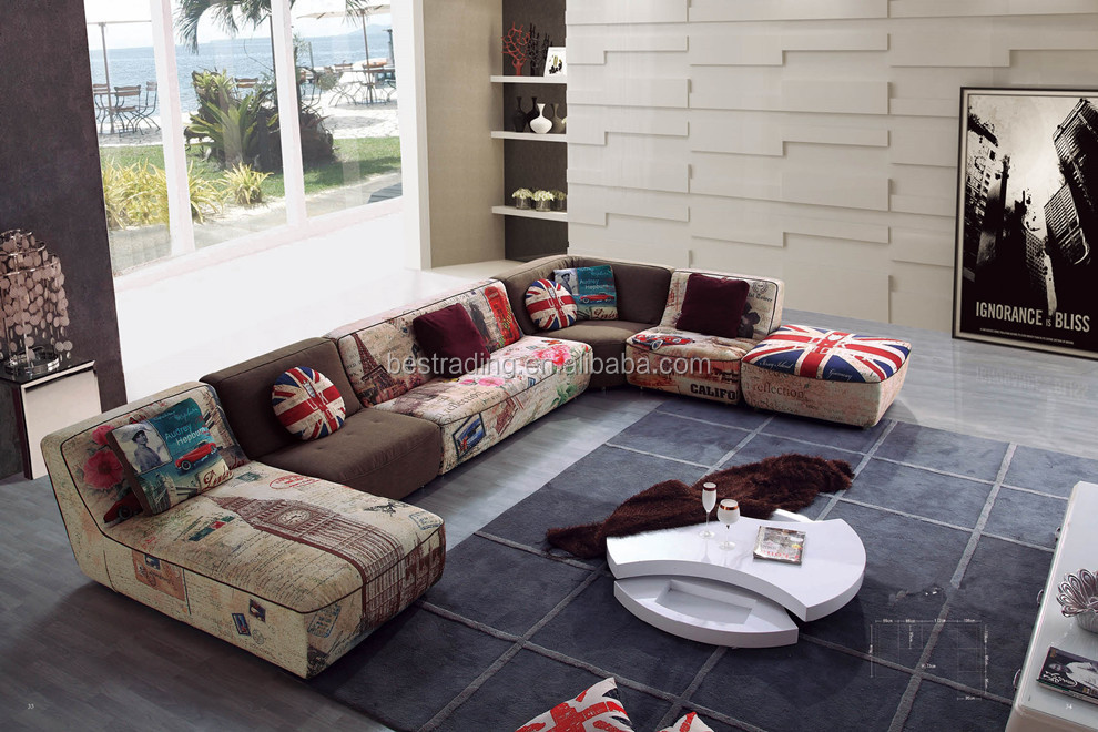 Wood Sofa Set Models Colorful Solid Furniture