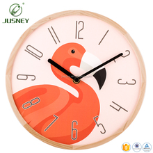 2018 fashion modern wholesale New wood Clock home decor Cartoon Wall Clock Decorative For Kid gift