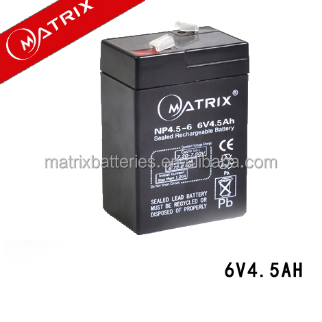 4 5ah Batterie Régulée Voiture Valve Volts Par Plomb Au Jouet 6 Y9e2DHIbEW