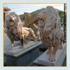 Custom Stone Garden Animal Product life size walking marble lion statue