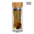 EG506 400ML/14OZ Natural bamboo lid bulb bottom glass water bottle with infuser