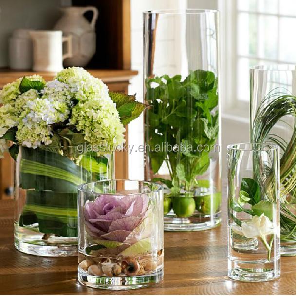 Vaas en glas cilinder als glazen vaas voor decoratie glas en kristallen vazen product id - Foto decoratie ...