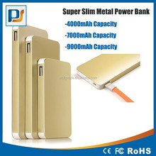 Metal case Slim Polymer battery Portable hotsell metal case mobile phone power bank