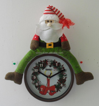 hot selling musical christmas musical wall clock 2015 - Musical Christmas Clock