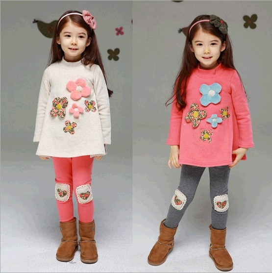 D85943H autumn latest design embroidered thick childrens sets