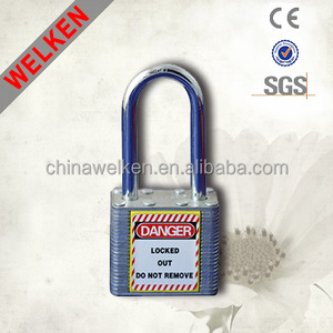 Combination Laminated Strong Safety Padlock for Industrial Steel long shackle lock