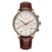 Wholesale fashion chronograph mens quartz watch stainless steel case back watch