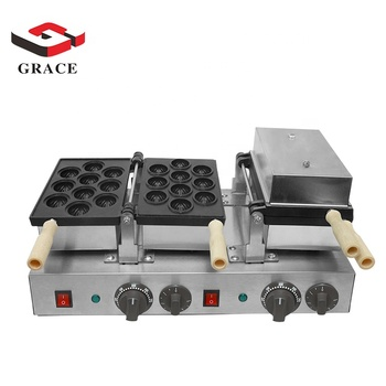 Commercial Snack Equipment Electric Walnut Shape Cake Making Machine Waffle Maker