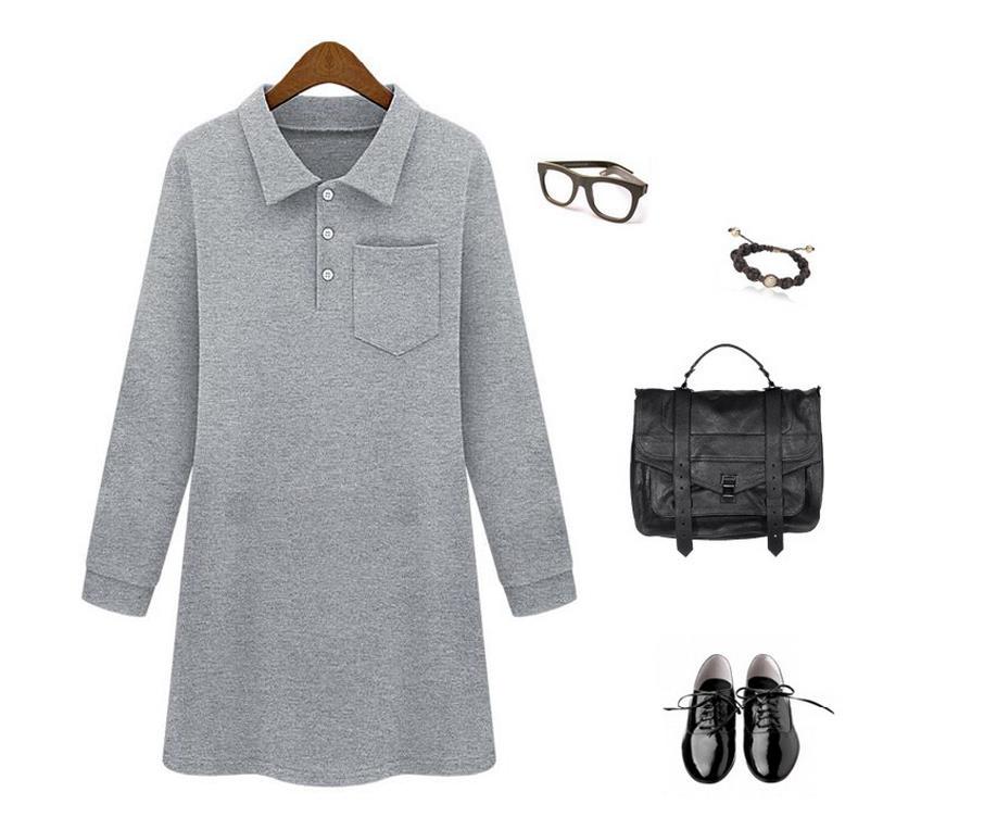 plus size high quality elegent thin cotton dress for women