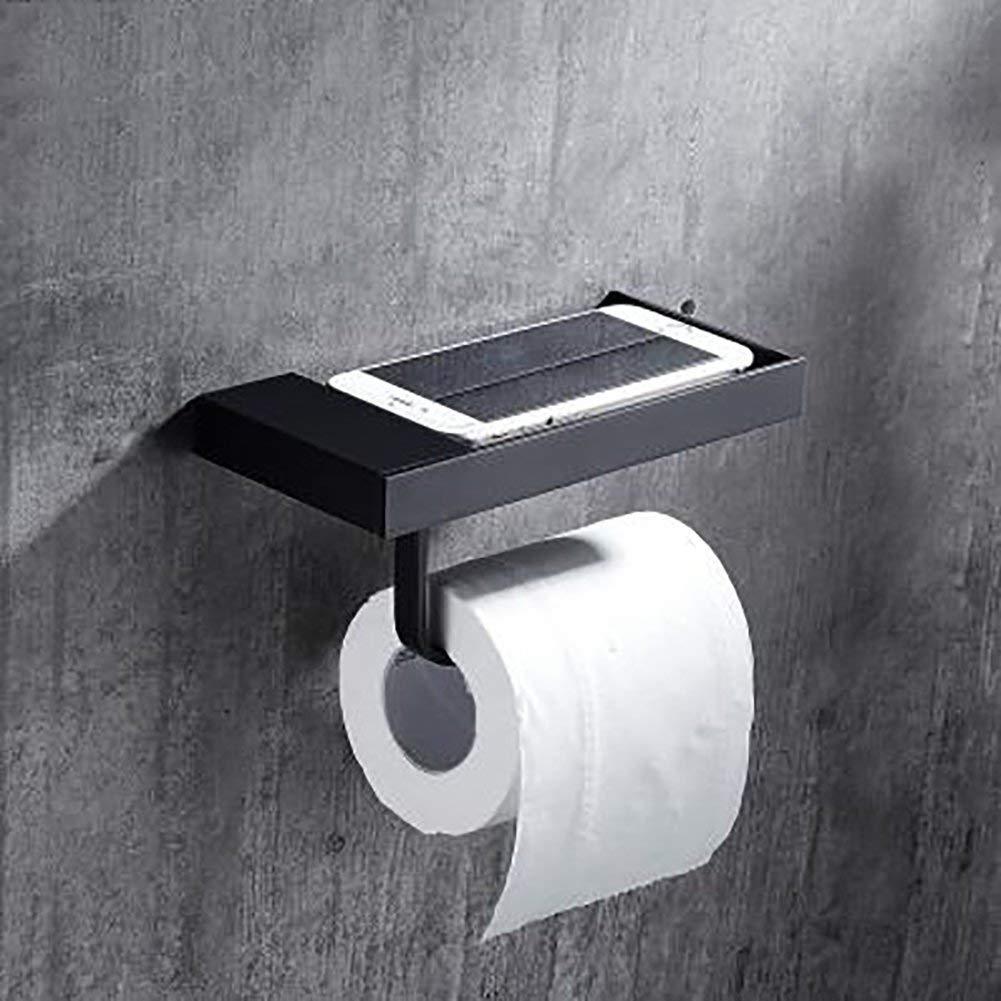 GUOSHIJITUAN [retro] Toilet paper holder,Restroom Toilet paper shelf Space aluminium Reel frame Tissues holder Toilet roll holder-B