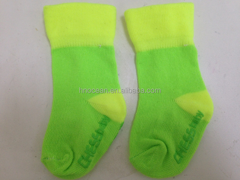 NEW STYLE high quality simple deisgn turn cuff popular baby cotton socks