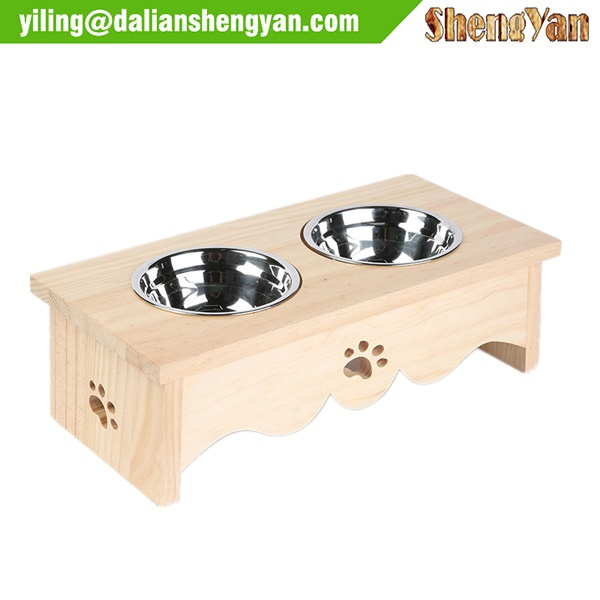 Square Style Elevated Dog Bowl Stand