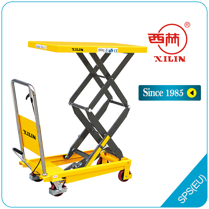 Xilin double scissor manual lift table cart - SPS/SPF