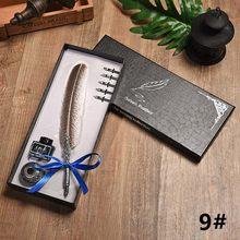 Авторучка в европейском стиле с изображением совы, набор перьевых ручек в винтажном стиле, перьевая авторучка с 5 наконечниками для студент...(Китай)