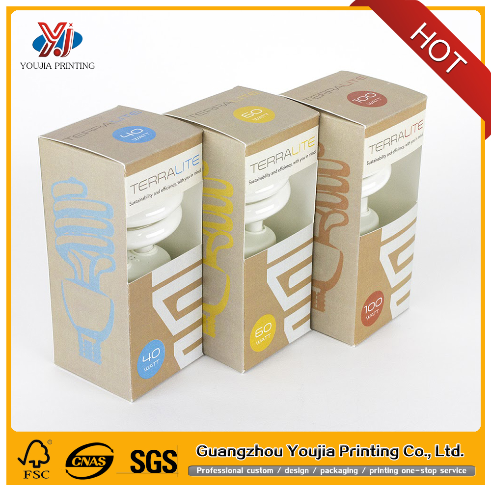 creative innovation paper light bulb box packaging design in cheap price