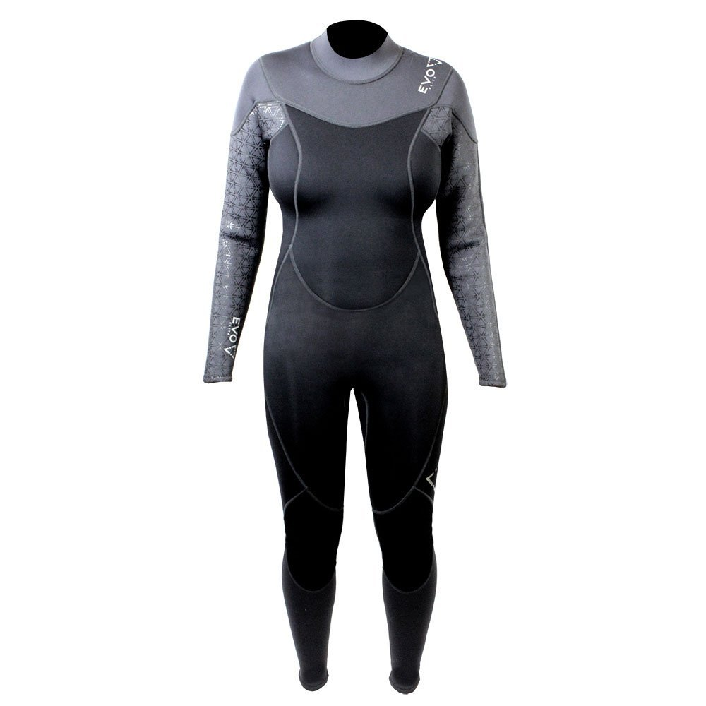 Get Quotations · EVO Elite 3mm Super-stretch Full Scuba Wetsuit (women s) 15  16 Black bf3667018