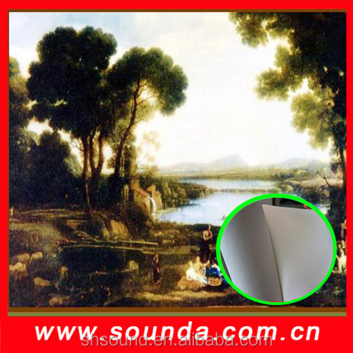Sound cotton canvas for digital printing on canvas fabric