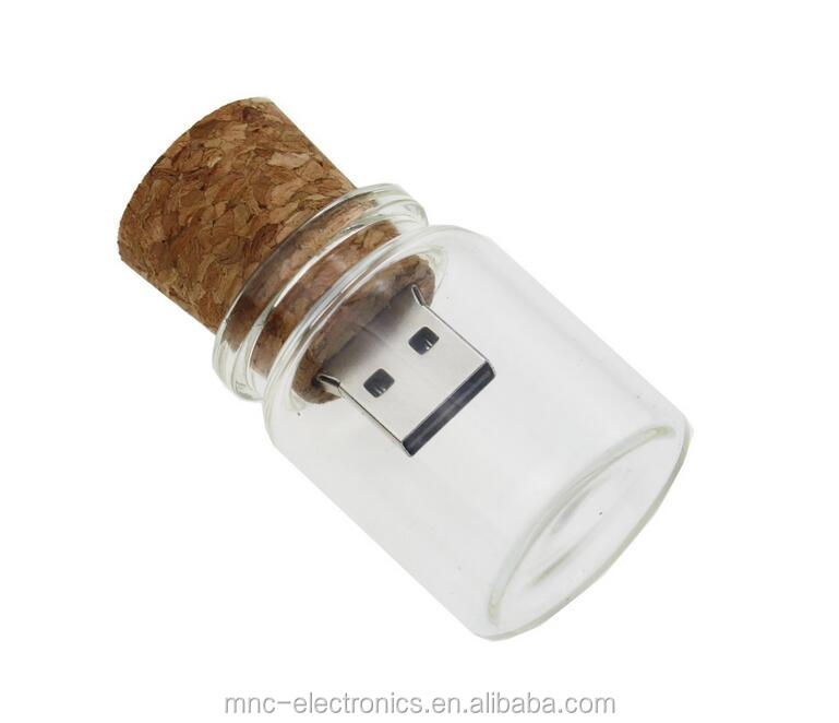 Wishing Bottle 1G 2G 4G 8G 16GB 32G 64G USB 2.0 Memory Stick Flash Drive for Your Girlfriends Super Gift