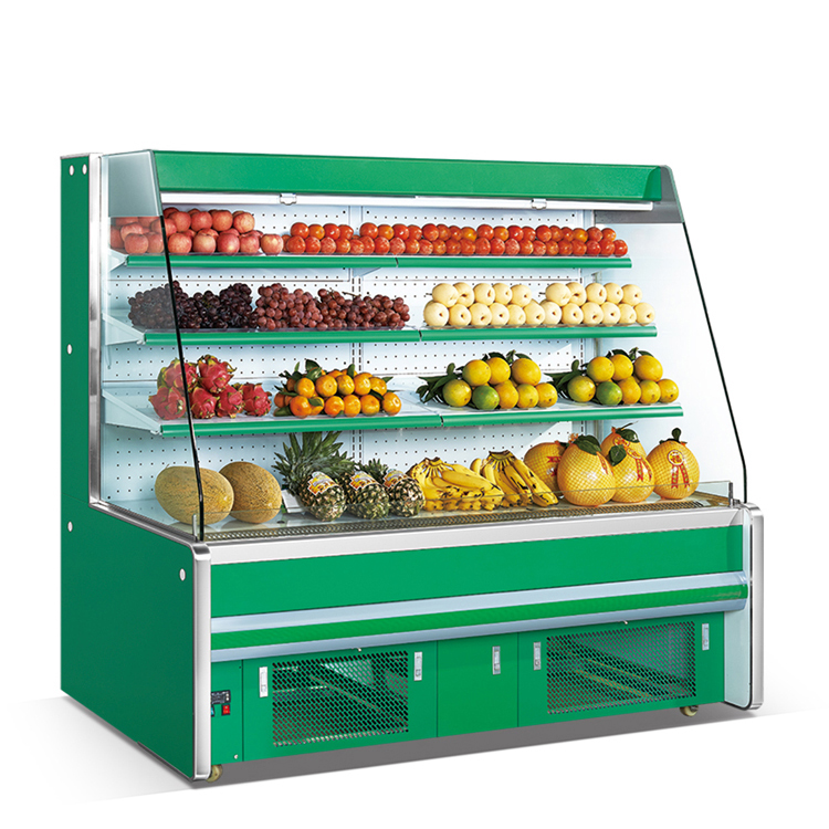 Refrigeration Equipment Fruit And Vegetable Showcase Air Curtain Refrigerator Price for Supermarket