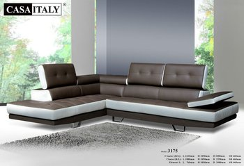 Casa Italy Leather Sofa F 3175 Living Room L Shape Sofa