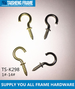 tsk298 brass nickel cup hooks in different size picture frame hook