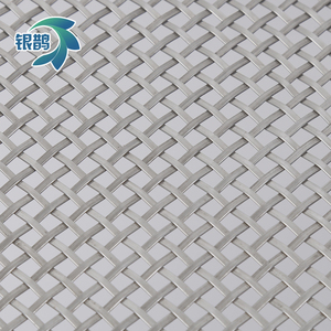 Flat wire stainless steel square hole metal woven mesh