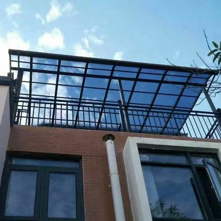 Aluminum Frame And Polycarbonate Top Balcony Patio Cover - Buy Plastic  Patio Covers,Aluminum Patio Covers,Waterproof Patio Covers Product on