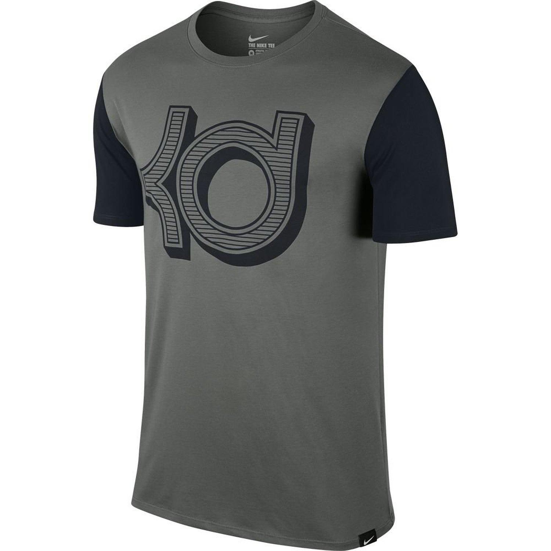 best service 6bdfc c39e4 Get Quotations · Nike Men s Dri Fit KD Open Block Short Sleeve T Shirt  Anthracite Black