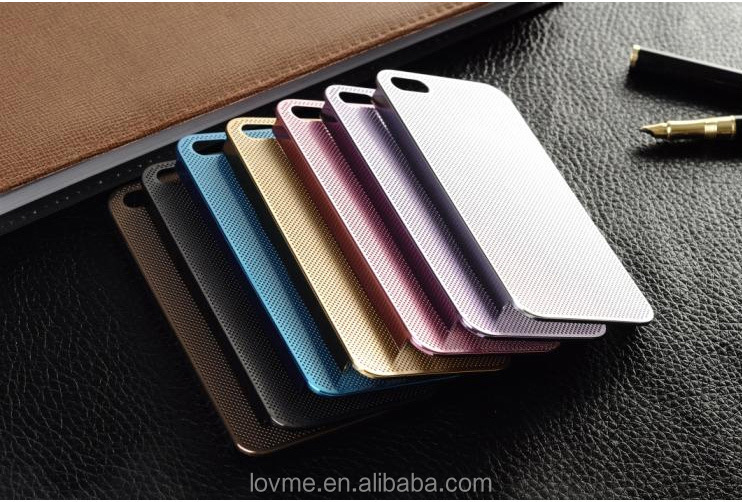 Ultra Thin Titanium Metal Mesh Back Cover Case For Apple iPhone 5 5s + Screen Protector