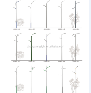 customized hot dip galvanized street light poles