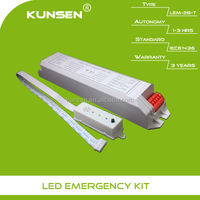 Emergency lighting pack module with self-contained