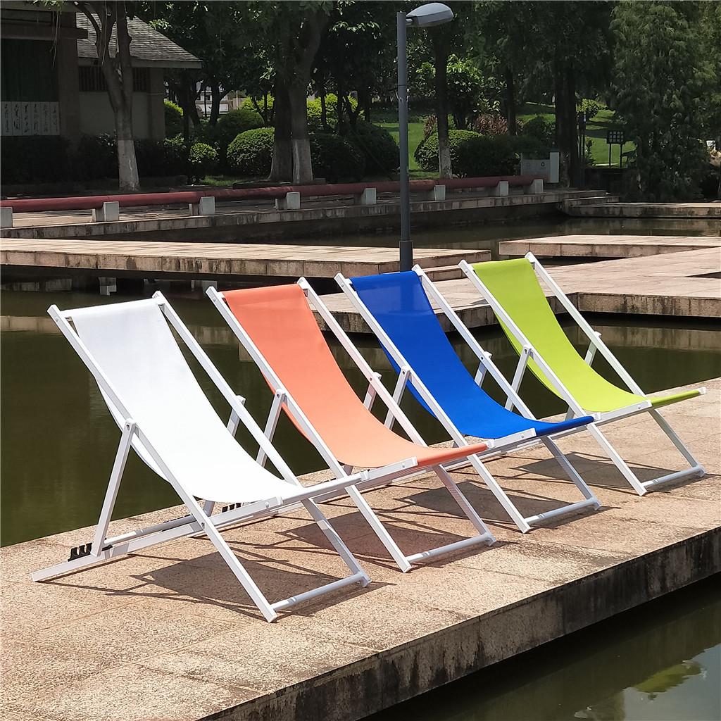 Aluminum Folding Canvas Deck Beach Sling Garden Paito Chair