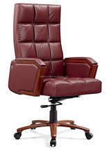 Popular rose red synthetic leather dinner chair message office chair