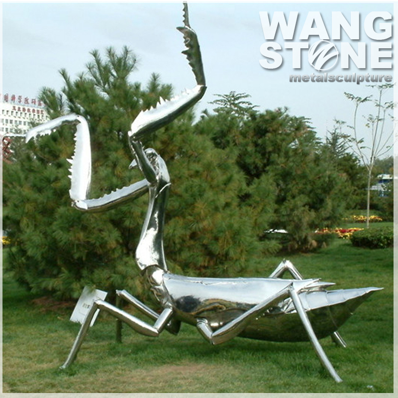 Large Stainless Steel Polished Metal Garden Art Ant