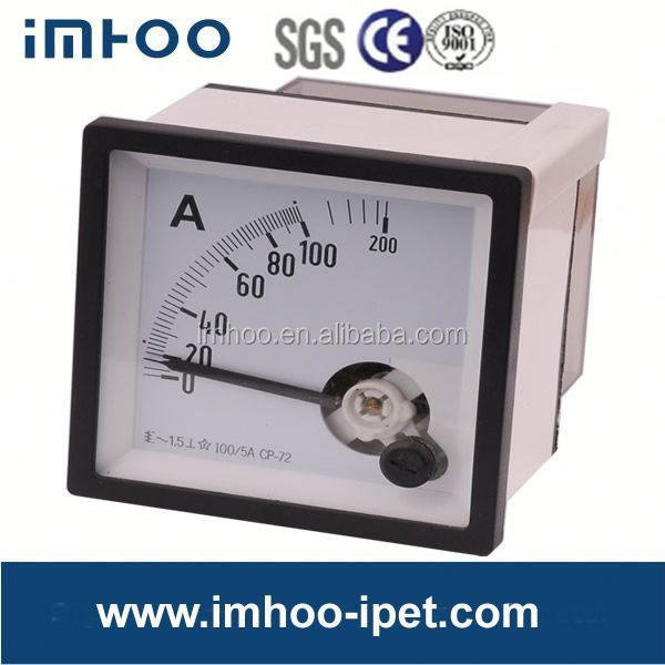 Moving Iron AC Panel Ammeter 72x72 analog meter movement