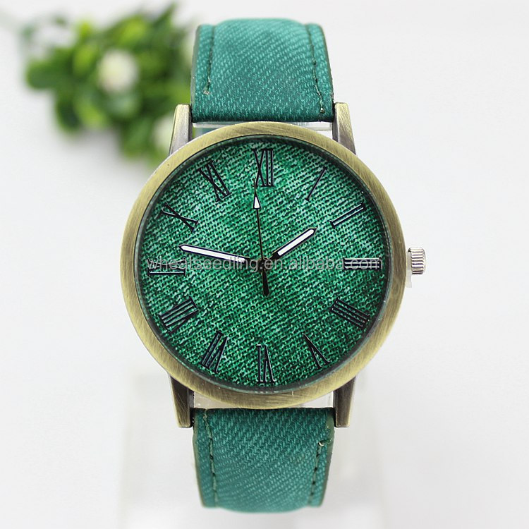 jean leather oem design your own child clock wrist watch