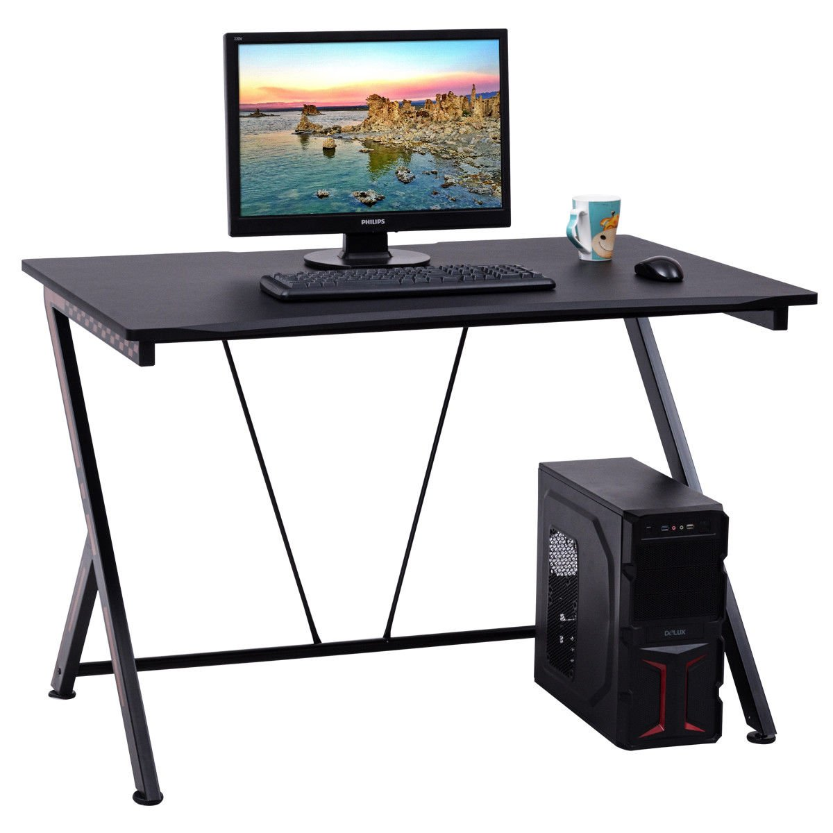 Tangkula Computer Desk Home Office Large Laptop PC Computer Desk Writing Table
